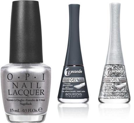 Los platas, metalizados, antracitas... El gris es color de otoño, también en las uñas, escoge los mejores tonos en OPI y Bourjois.