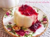 Panna cotta chocolate blanco fresas