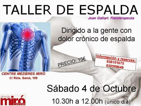TALLER DE ESPALDA