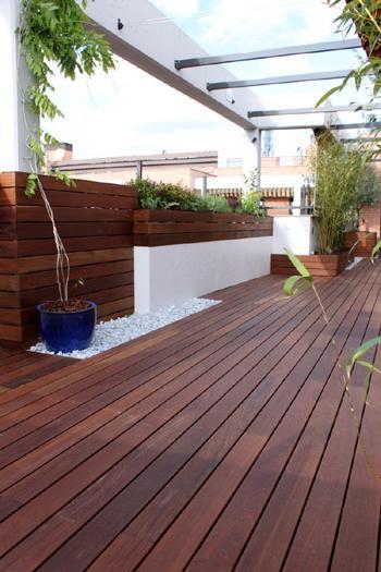 Reforma de una terraza con dise o de madera de exterior y - Reformas de terrazas ...