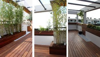 reforma terraza 021 Reforma de una terraza con diseño de madera de exterior y bambú