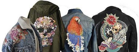 Hazte con un parche collage La Carola y convierte algo que todos llevan en una prenda única.