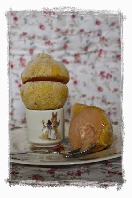 Crema de limón helada... para el reto de Tía Alia