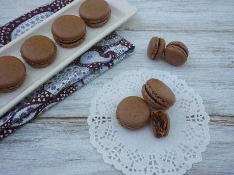 Macarons de chocolate y praliné (Recetario pdf para descargar)