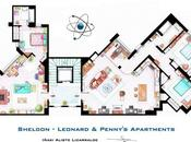 ¿Cómo pisos Bang Theory? Estos planos