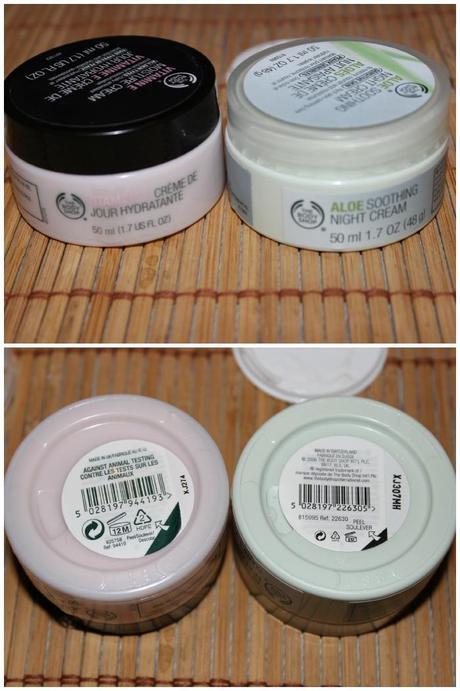 Crema de día Vitamia E y Crema de noche con Aloe de The Body Shop