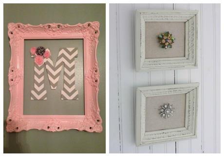 Reciclaje de marcos paperblog - Decoracion con marcos ...