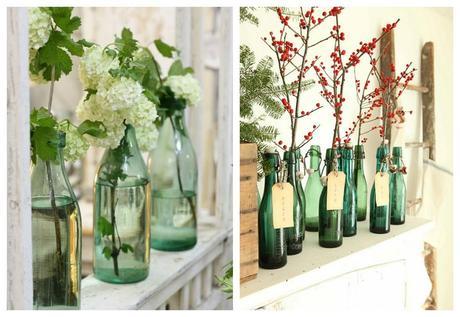Decorar con botellas verdes paperblog - Decorar con botellas ...