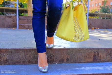 Silver Stilettos; 2 looks