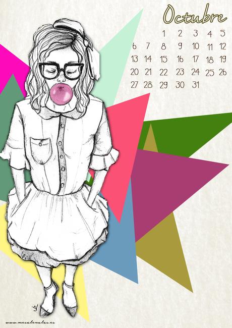 October calendar ¡¡Bye, bye september!!
