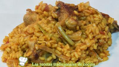 Receta de arroz con ajos tiernos y costillas