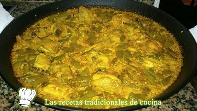 Autentica receta de la paella Valenciana al estilo tradicional