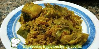 Receta de Arroz de Habas y Alcachofas