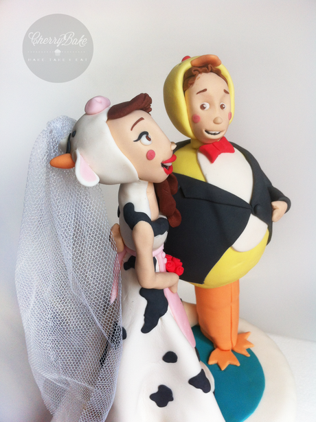 Figuras fondant tarta de boda / Wedding cake topper fondant