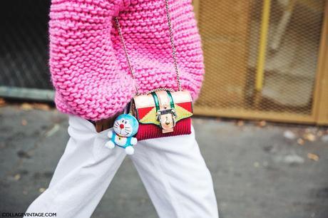 Paris_Fashion_Week_Spring_Summer_15-PFW-Street_Style-Pink_Sweater-White_Trousers-
