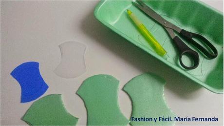 Cómo organizar lanas utilizandoo bandejas y tapas plásticas  (How to organize wool using trays and plastics covers Eco DIY)