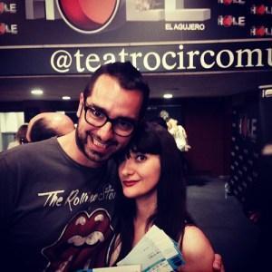 Con Chema Ruiz en el Teatro Circo de Murcia para ver The Hole (1).
