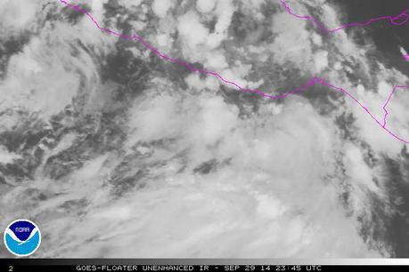Baja presión al sur de Oaxaca(México) evolucionará a un ciclón tropical
