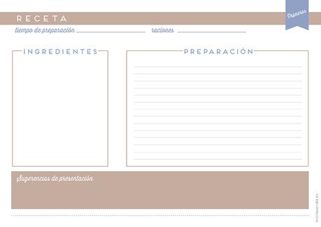 Freebies: Recetario y láminas para tu cocina