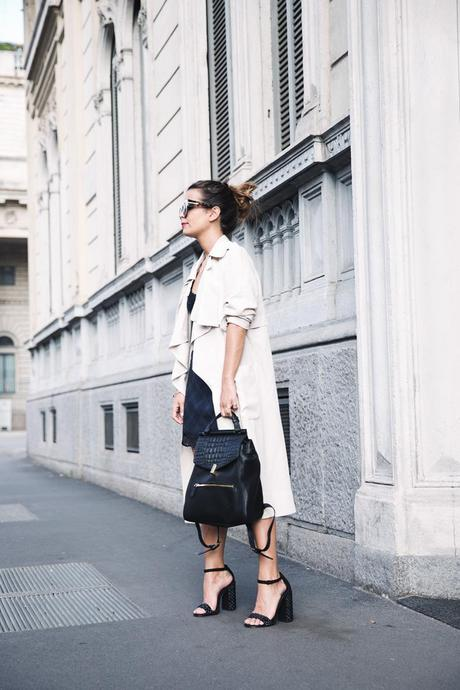 Long_Trench_Lingerie_Dress-Studded_Sandals-Reiss_Backpack-MFW-Milan_Fashion_Week-