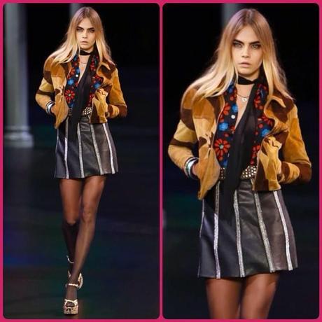 @YSL Saint Laurent Spring 2015 with an adorable @caradelevingne #GodBlessFashion !! #style #design #fashion #moda #aloastyle #AloastyleMagazine #jj #ootd #intafashion
