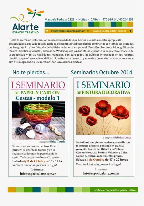 Seminarios de Arte y Artesanía en ALARTE ESPACIO CREATIVO