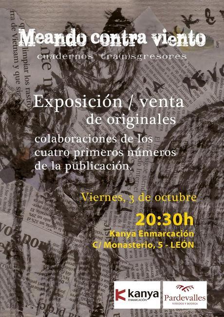 Meando contra viento, Cuadernos transgresores: Exposición / Venta de originales: Inauguración + 1 poema de Gsús Bonilla: