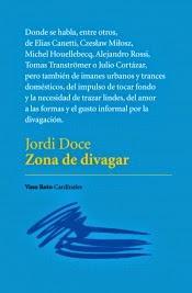 Jordi Doce. Zona de divagar
