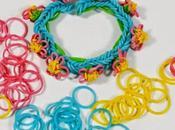Cómo hacer pulsera miniflores gomas colores