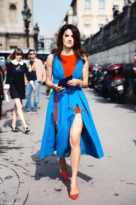Paris_Fashion_Week_Spring_Summer_15-PFW-Street_Style-Blue_Dress-Valentino-1