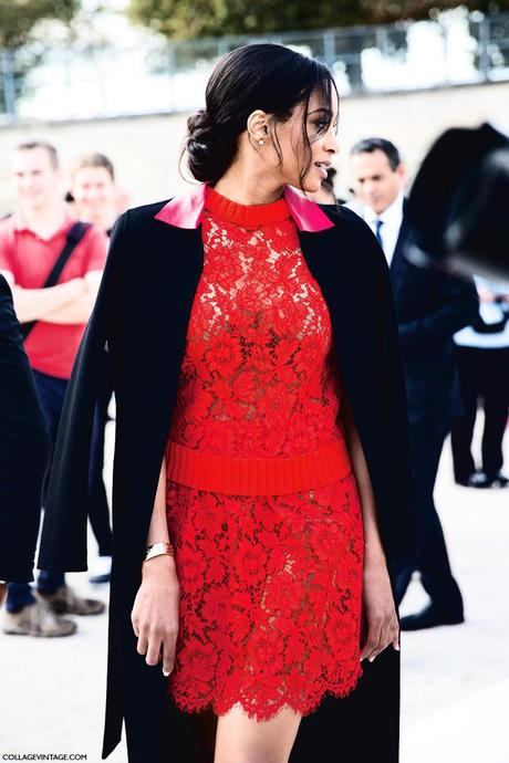 Paris_Fashion_Week_Spring_Summer_15-PFW-Street_Style-Red_Lace_Dress-VAlentino-