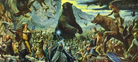 ilustraciones batalla cinco ejércitos