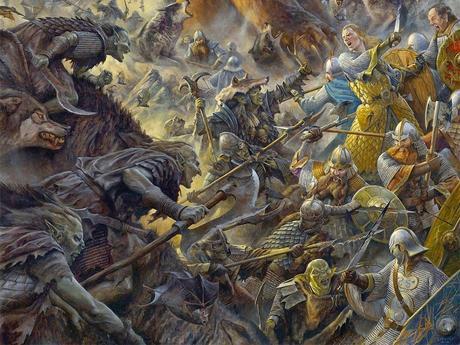 dibujos hobbit batalla cinco ejércitos
