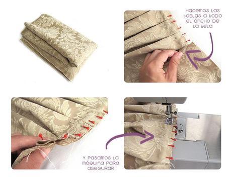 falda brocada DIY 3 Cómo hacer una falda brocada sin patrón  DIY