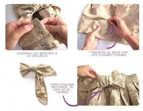 falda brocada DIY 7 Cómo hacer una falda brocada sin patrón  DIY