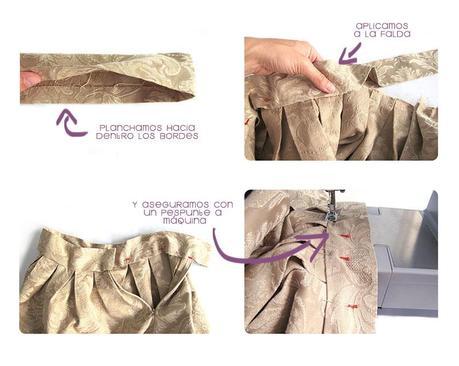 falda brocada DIY 6 Cómo hacer una falda brocada sin patrón  DIY