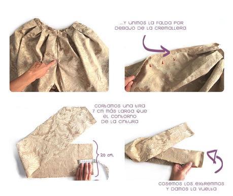 falda brocada DIY 5 Cómo hacer una falda brocada sin patrón  DIY