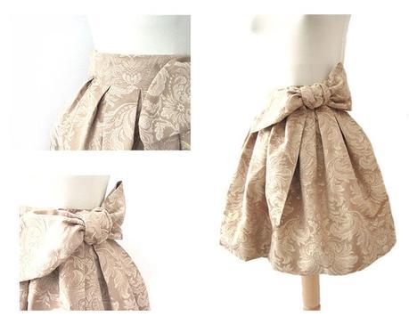 falda brocada DIY 8 Cómo hacer una falda brocada sin patrón  DIY