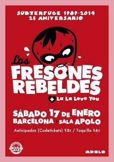 Los Fresones Rebeldes actuarán también en Barcelona