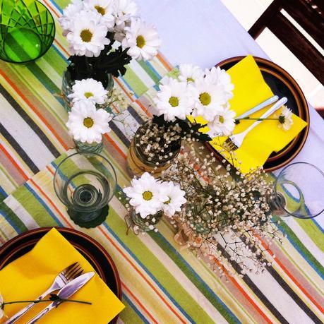 flores sobre la mesa