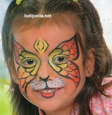 Bonitos Modelos de caritas pintadas para niños