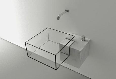 Dise o minimalista en lavabo de m rmol y cristal paperblog - Disenos en marmol ...