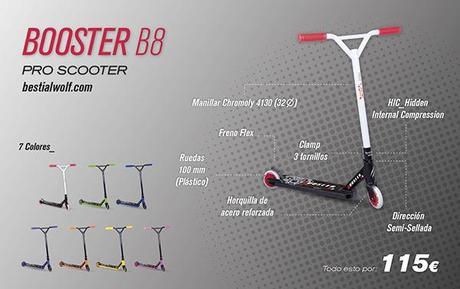 Nuevo modelo 2014, patinete  Booster B8