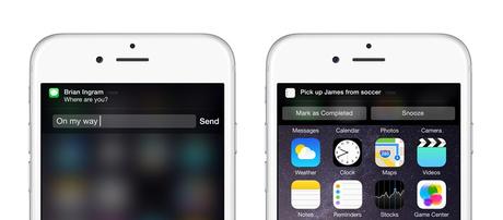 Notificaciones interactivas para iOS 8