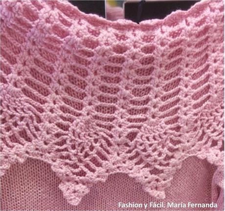 Teje un cuello fácil a ganchillo para aplicarlo a un sweater (An easy crocheted neck for a sweater)