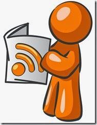 Orange Man RSS Symbol Newspaper