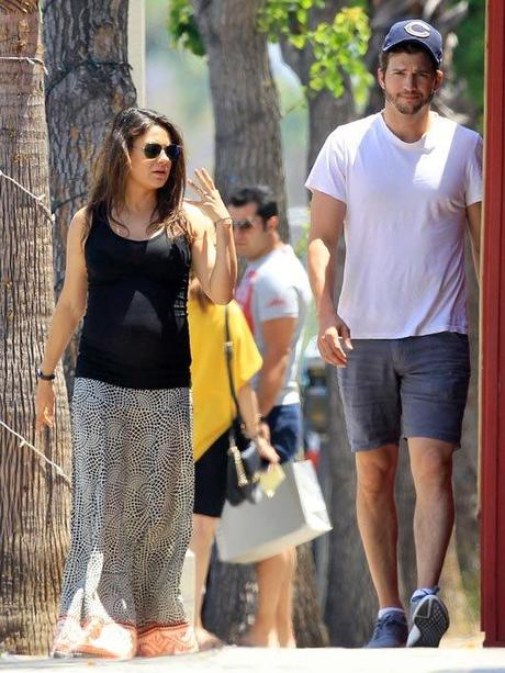Ashton Kutcher y Mila Kunis embarazada