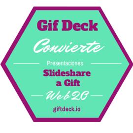 Gift Deck convierte presentaciones de Slideshare en Gifs.