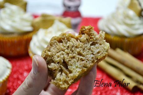Cupcakes de manzana asada con canela y brandy
