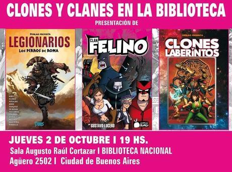 CLONES Y CLANES: Presentación de libros de historietas
